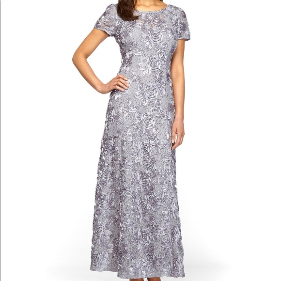 ab85eb3568 Alex Evenings Dresses   Skirts - Alex Evenings A-Line Gown in Dove Gray